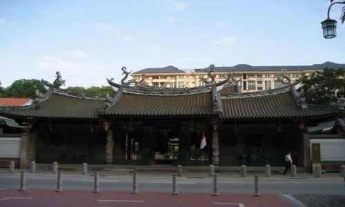 SINGAPUR / dzielnica chińska / Świątynia / Thai Hock Keng Temple