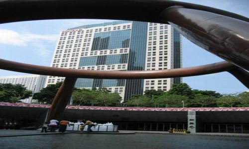 Zdjecie SINGAPUR / Dzielnica Bogactwa / centrum miasta / Fontanna Bogact