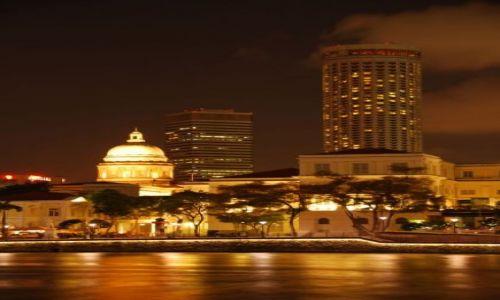Zdjecie SINGAPUR / - / Singapur / Singapur nocą