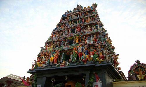 Zdjęcie SINGAPUR / Azja / Singapore / Hinduska świątynia w Chińskiej Dzielnicy