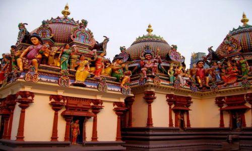Zdjęcie SINGAPUR / Singapore / dzielnica chińska / Hinduska świątynia