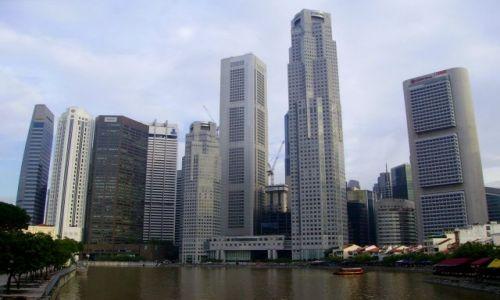 Zdjęcie SINGAPUR / Singapore / Singapore / widok na Down Town od strony rzeki Singapore River