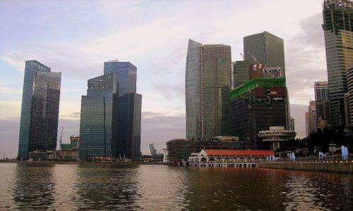 Zdjęcie SINGAPUR / Singapur / Singapore Bay / panorama z zatoki