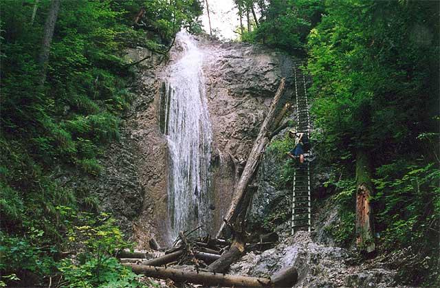 Zdj�cia: Dolina Klasztorzysko, S�owacki Raj, Wodospad, S�OWACJA