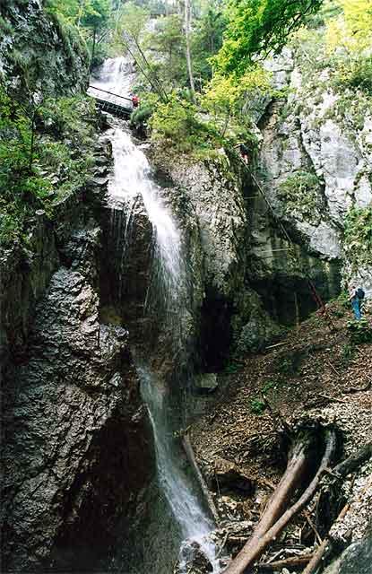 Zdjęcia: Zawojowy Wodospad, Słowacki Raj, Wodny wachlarz, SłOWACJA