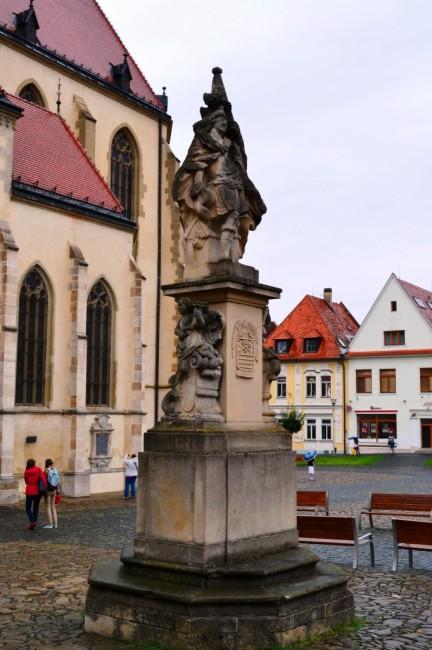 Zdjęcia: Bardejów, KRAJ PRESZOWSKI, Figura św. Floriana, SłOWACJA
