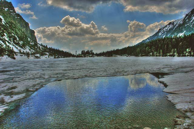 Zdjęcia: Popradzkie Jezioro , Tatry Wysokie , wiosna w Tatrach, SłOWACJA