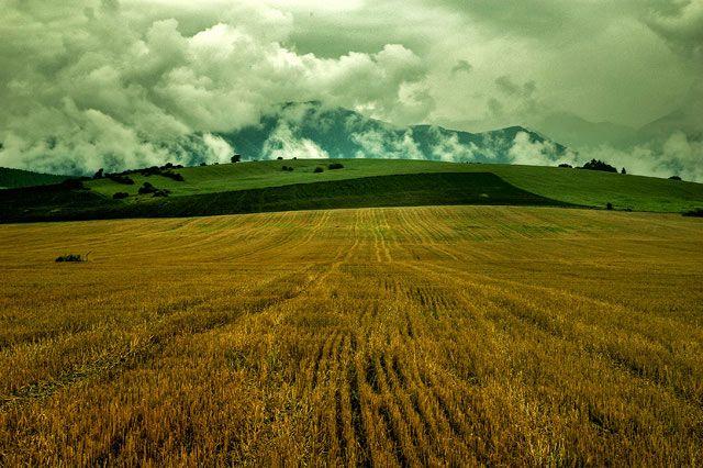 Zdjęcia: w drodze na Orawe, Tatry po słowackiej stronie, widoczek, SłOWACJA