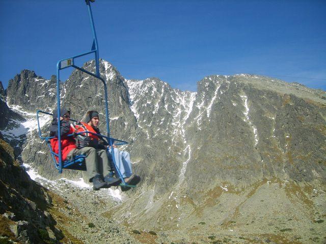 Zdjęcia: Wyciąg na przełęcz pod Łomnicą, Tatry Słowackie, W górze, SłOWACJA