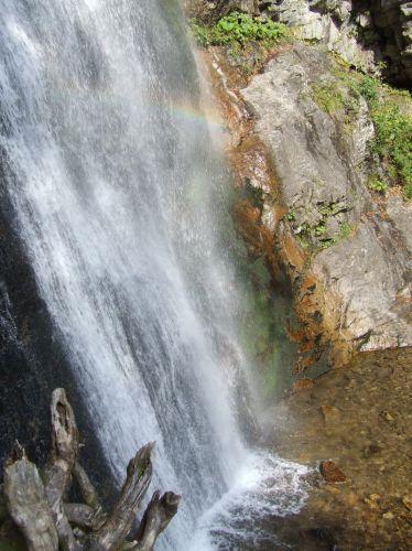 Zdjęcia: Szutowski Wodospad, Mała Fatra, tecza  w wodospadzie, SłOWACJA