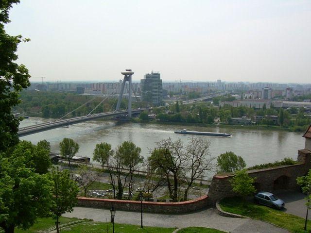 Zdjęcia: Zamek, Bratysława, Widok na Dunaj, SłOWACJA