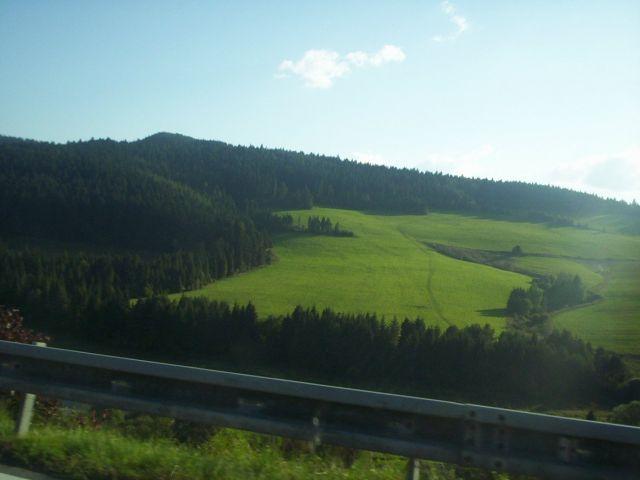 Zdj�cia: trasa 77 na S�owacji, G�ry Lewockie, zielono, S�OWACJA
