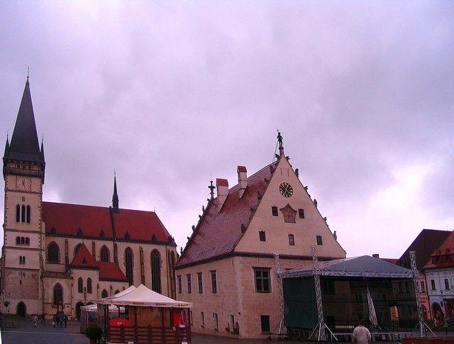 Zdjęcia: Bardejów, Presovsky kraj, Ratusz  i Bazylika sw. Idziego w Bardejowie, SłOWACJA