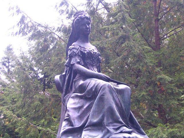 Zdjęcia: Bardejów - Kupele, Presovsky kraj, Pomnik cesarzowej Sisi, SłOWACJA