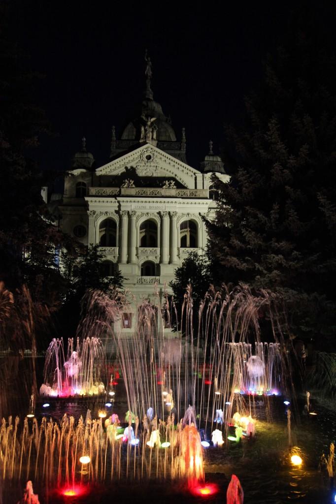 Zdjęcia: Rynek w Koszycach, Koszyce, Katedra Św. Elżbiety (nocą), SłOWACJA