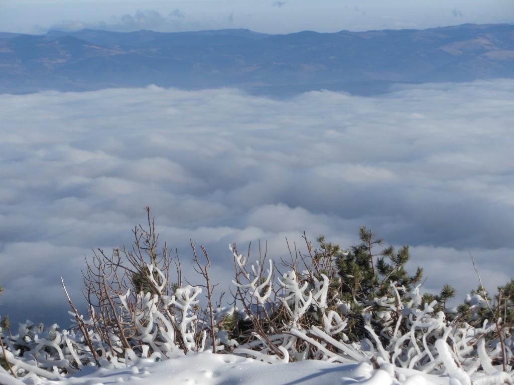Zdjęcia: SŁOWACJA, Łomnicki szczyt, Tatry Niskie we mgle, SłOWACJA