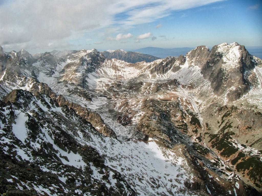 Zdjęcia: Różne, Tatry wysokie, Widok ze Sławkowskiego szczytu, SłOWACJA