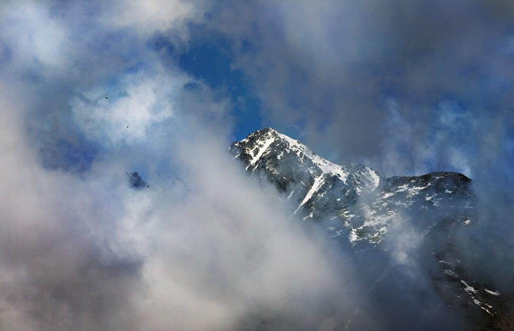 Zdjęcia: Łomnicki Szczyt, Tatry, w chmurach, SłOWACJA