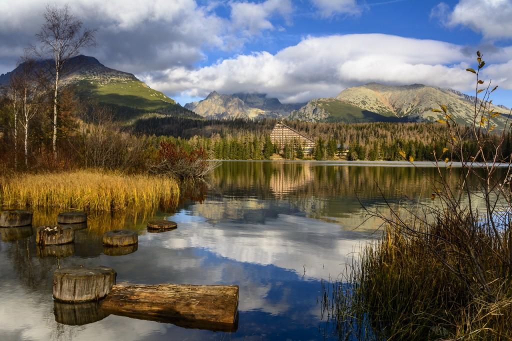 Zdjęcia: Szczyrbskie Jezioro, TATRY WYSOKIE, Krzywe zwierciadło, SłOWACJA
