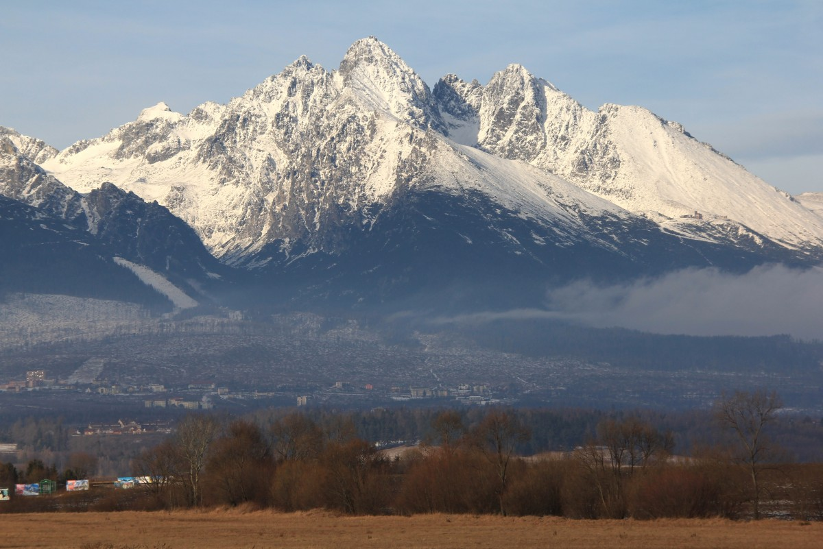 Zdjęcia: Wysokie Tatry, Poprad, Panorama od strony Słowacji, SłOWACJA