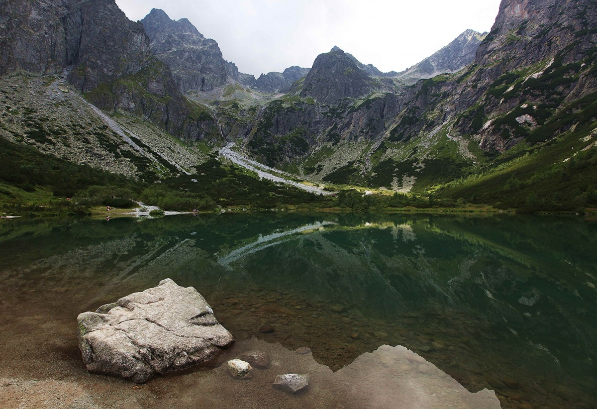 Zdjęcia: Zielony Staw Kieżmarski, Dolina Zielona Kieżmarska, Kamień, SłOWACJA