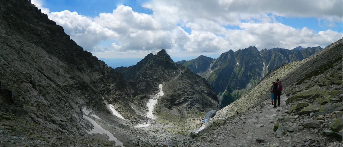 Zdjęcia: Przełęcz Waga 2337 m., -Rysy., Panorama z Przełęczy Waga 2337 m., SłOWACJA