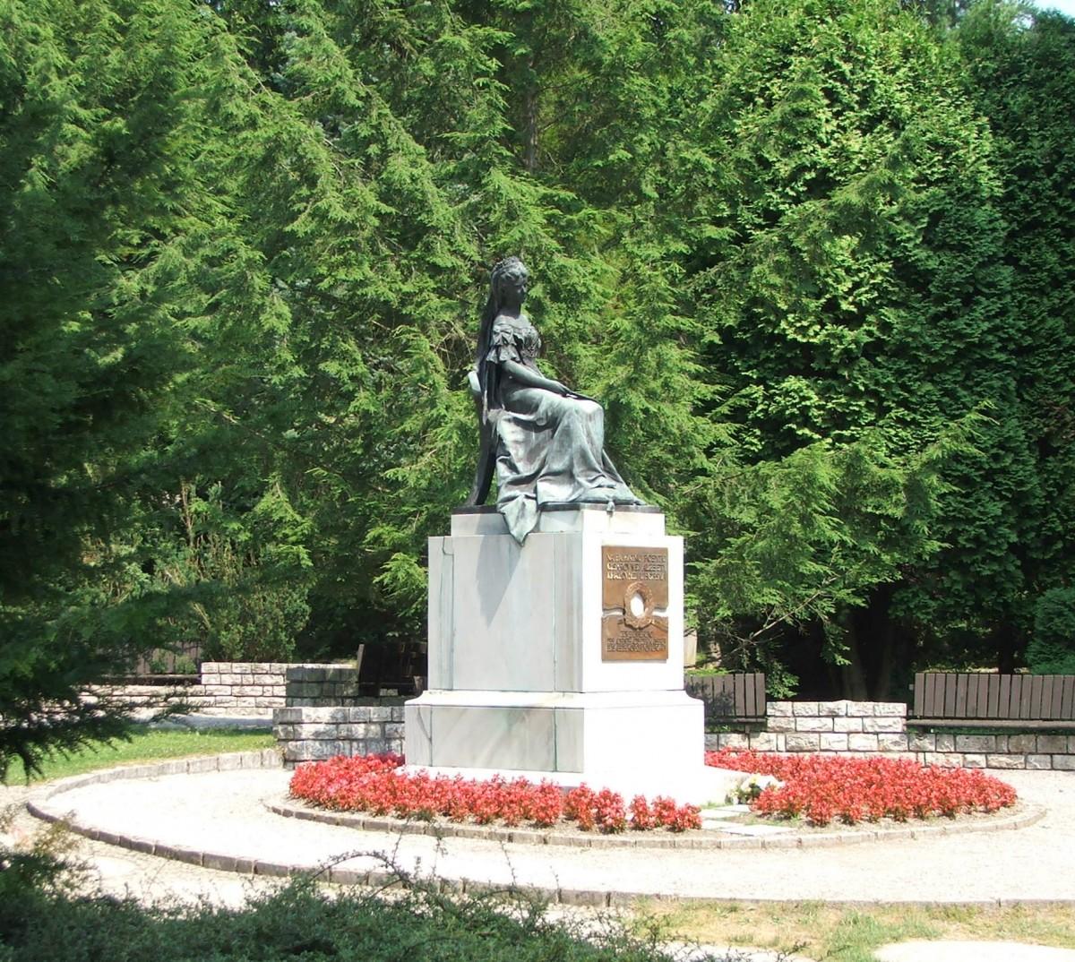 Zdjęcia: Bardejów-Zdrój, kraj preszowski ,powiat Bardejów, Pomnik Sissi, SłOWACJA
