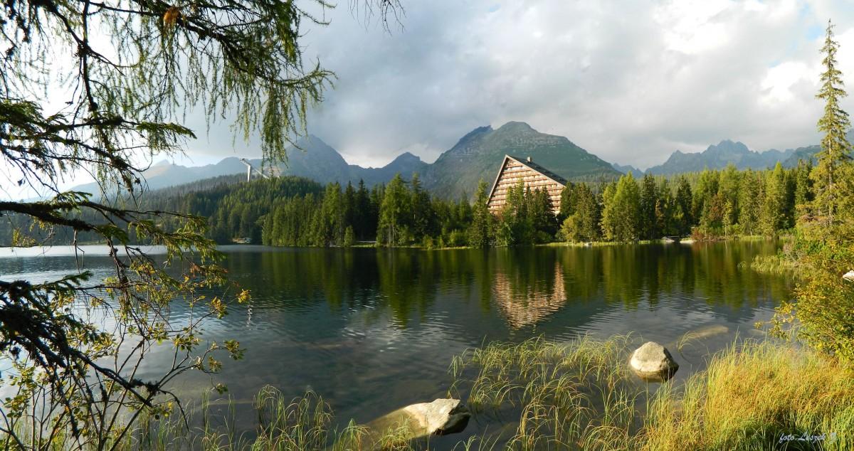 Zdjęcia: Szczyrbskie Jezioro., Szczyrbski Staw., Szczyrbski  Staw - Panorama., SłOWACJA