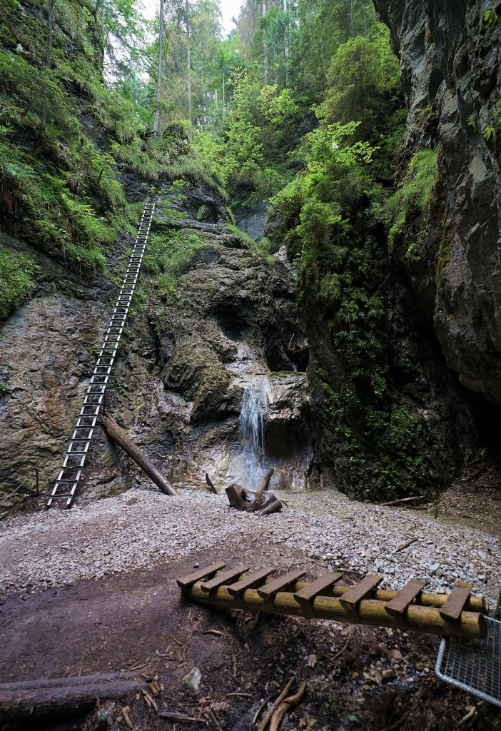 Zdjęcia: Słowacki Raj - zielony szlak Sucha Bela, Spisz, Kładki i drabinki, SłOWACJA