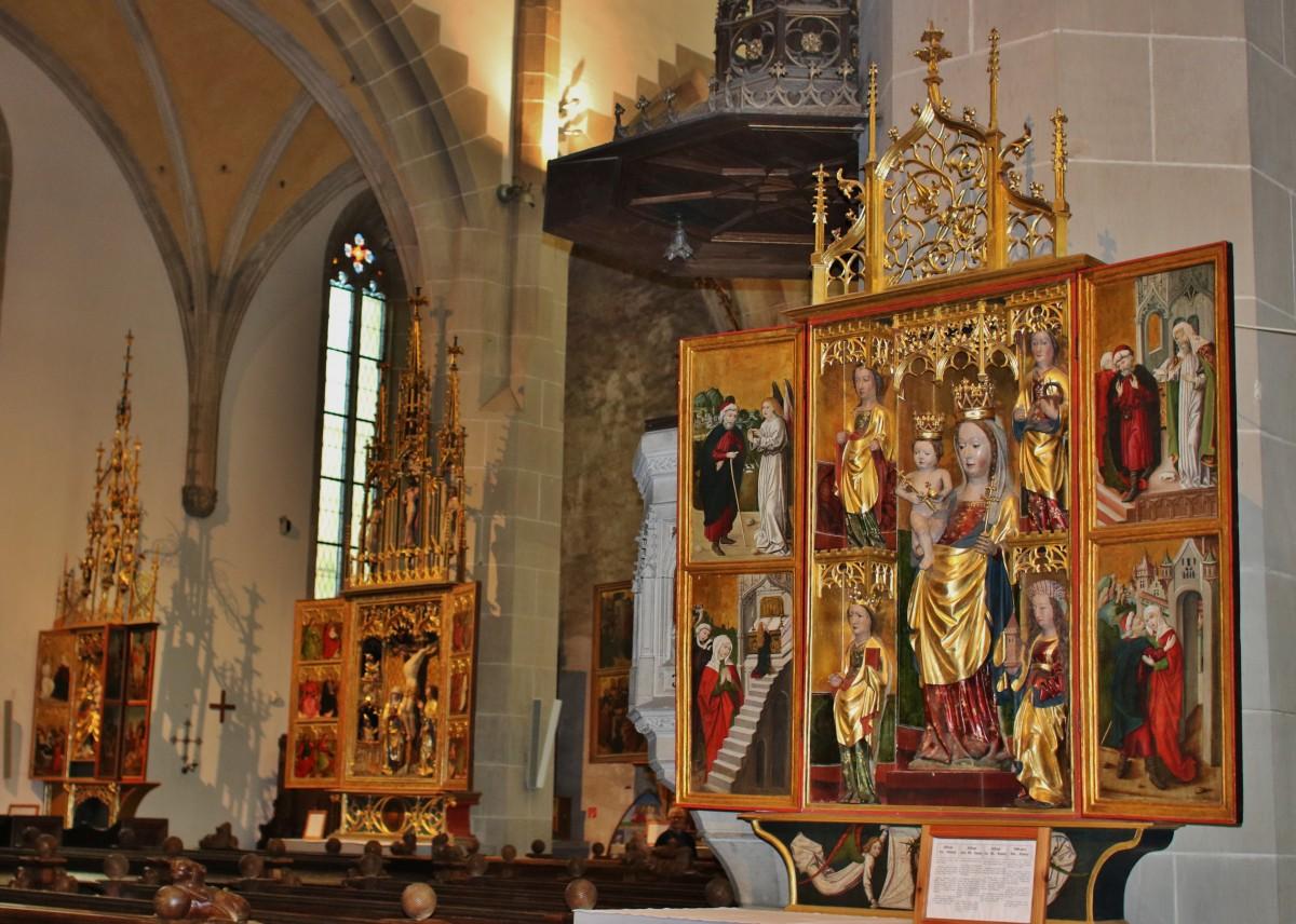 Zdjęcia: Bardejów, Kościół św. Idziego.Tryptyki ołtarzowe, SłOWACJA