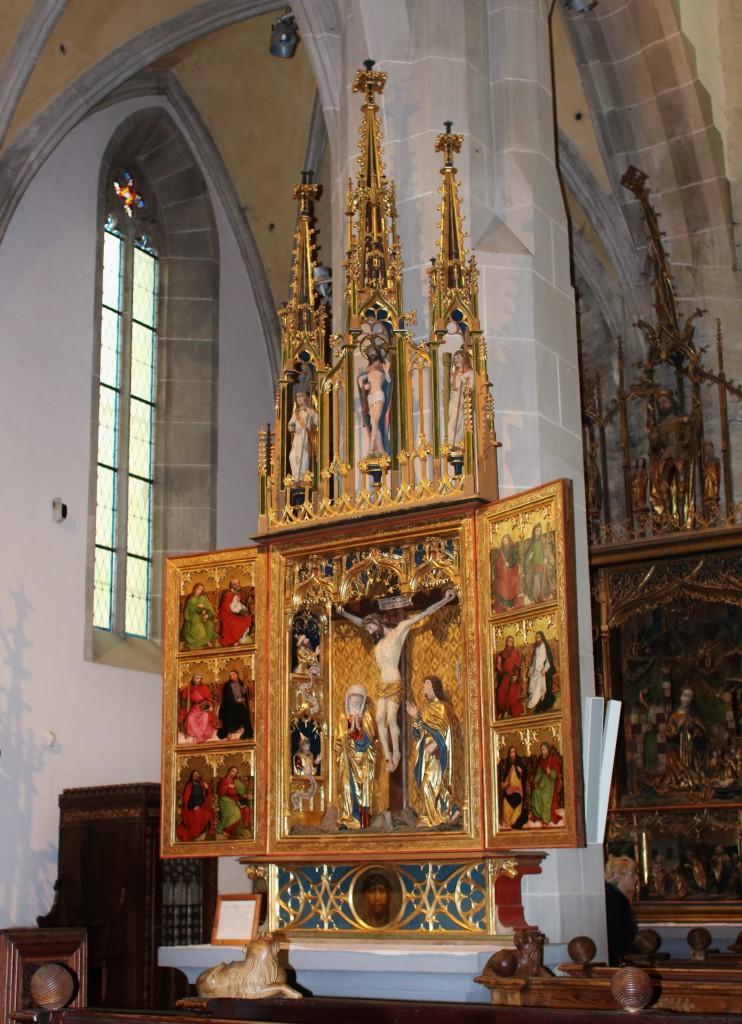 Zdjęcia: Bardejów, Kościół św. Idziego. Ołtarz Ukrzyżowania, SłOWACJA