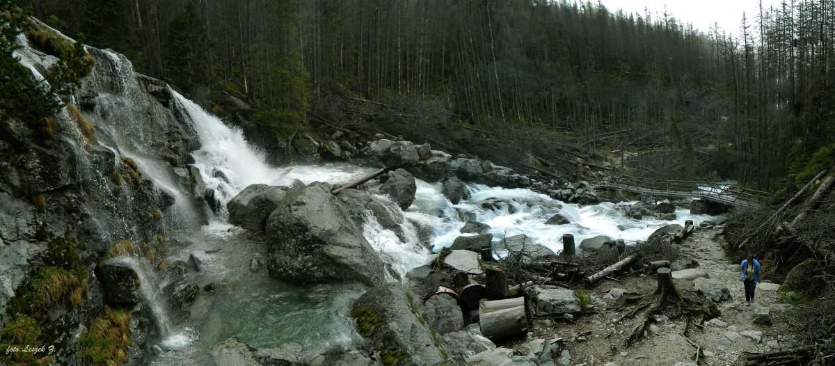 Zdjęcia: Wodospady Zimnej Wody., Wysokie Tatry., Wodospady Zimnej Wody - Wodospad Wielki z góry., SłOWACJA