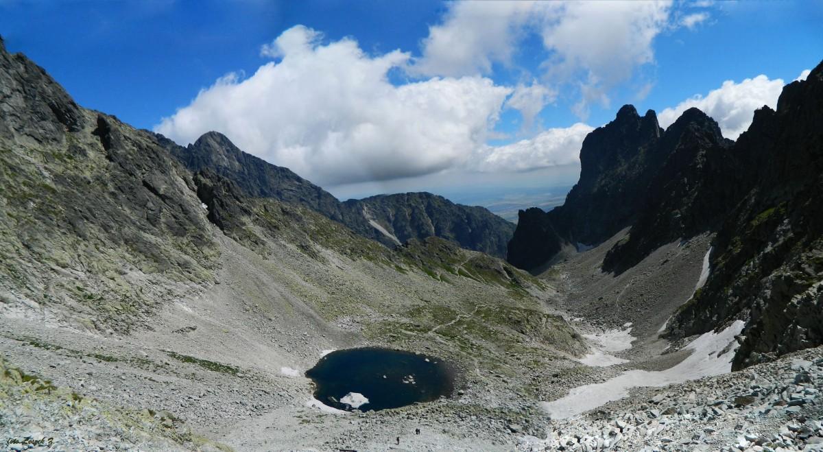 Zdjęcia: Lodowa Przełęcz 2372 m., Wysokie Tatry., Panorama z Lodowej Przełęczy., SłOWACJA