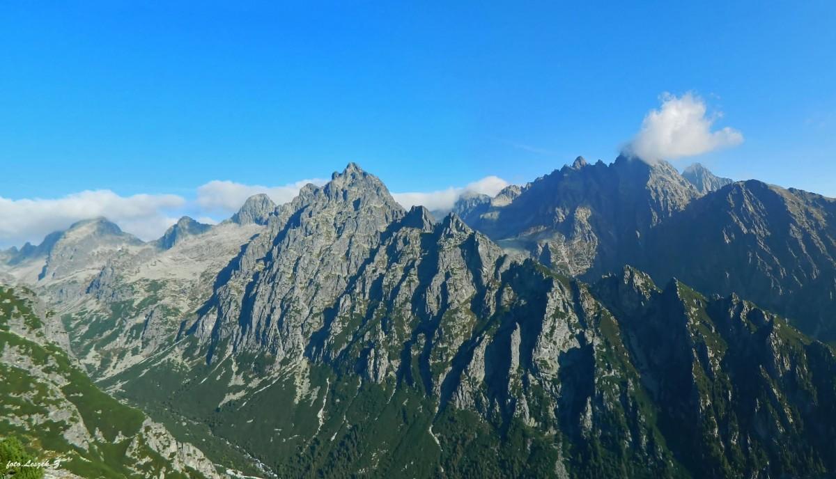 Zdjęcia: Szlak na Sławkowski Szczyt 2452 m., Wysokie Tatry., Widok ze Sławkowskiego Szczytu., SłOWACJA