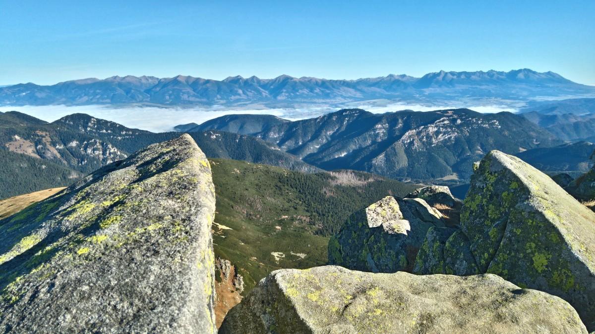 Zdjęcia: Dumbier , Tatry Niskie, widok ze szczytu ..., SłOWACJA