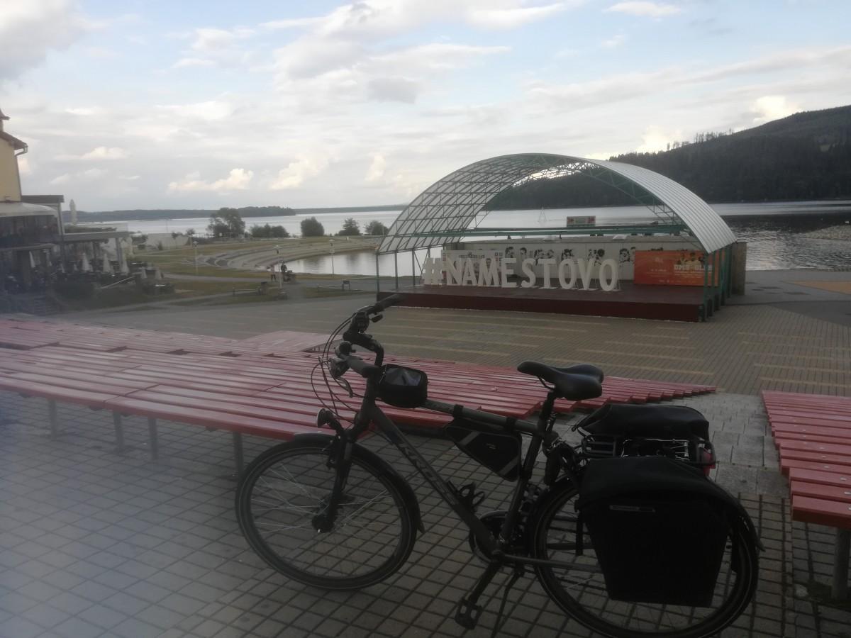 Zdjęcia: jez.Orawskie, jez.Orawskie, Z rowerem na Płd. Europę, SłOWACJA