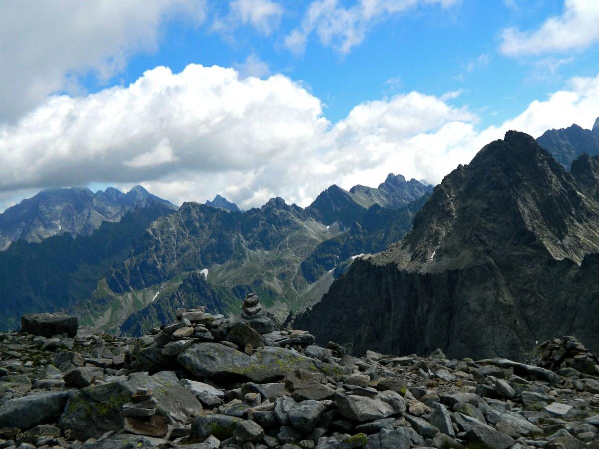 Zdjęcia: szlak na Rysy., Wysokie Tatry., Widok z Przełęczy Waga (Waha), SłOWACJA