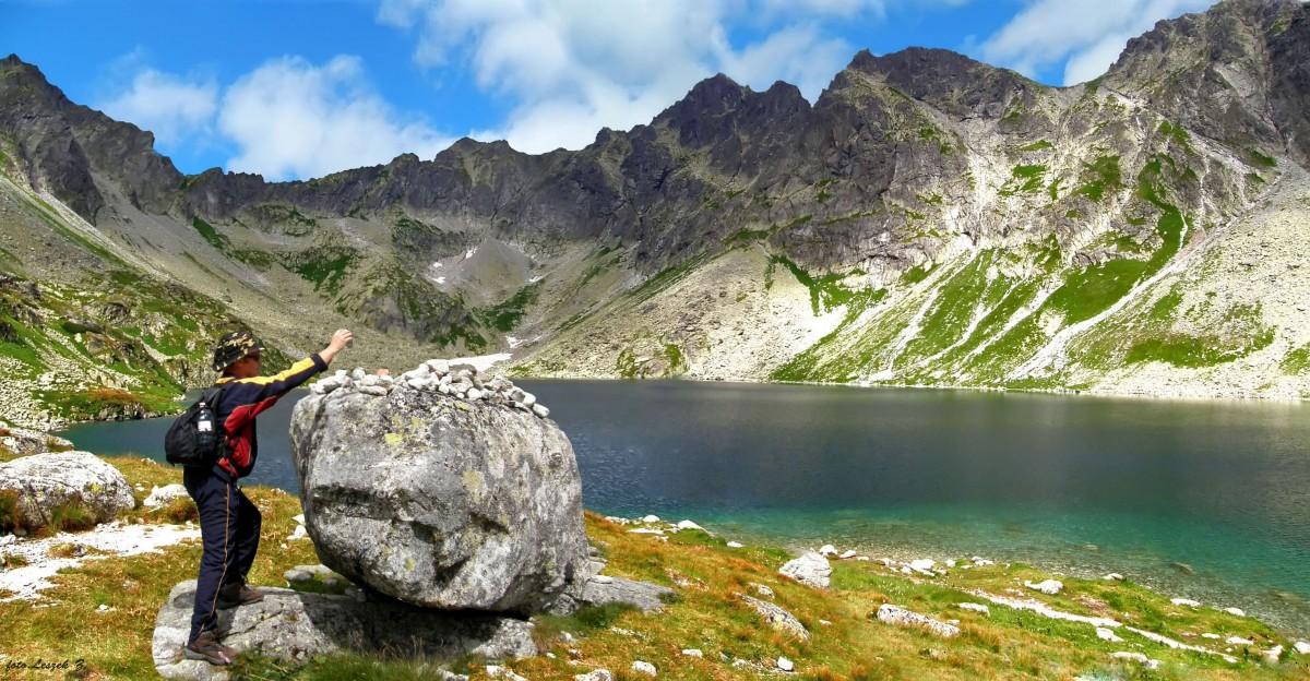 Zdjęcia: Hińczowa Dolina., Wysokie Tatry., Leszek na Wielkim Hińczowym Stawem., SłOWACJA