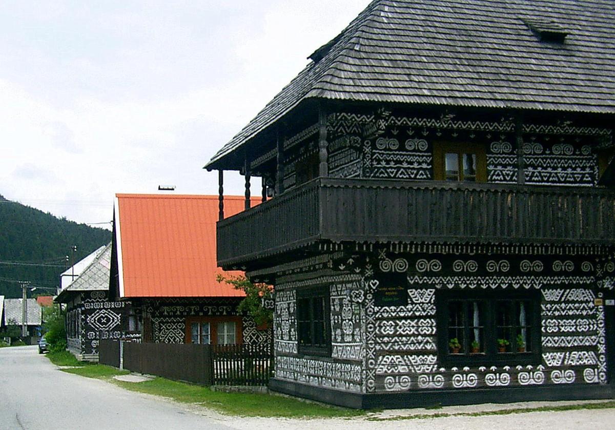 Zdjęcia: Cicmany, powiat Żylina, Cicmany 14 lat temu, SłOWACJA