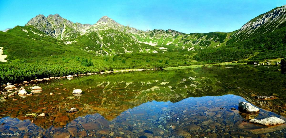 Zdjęcia: Dolina Białych Stawów., Wysokie Tatry., Panorama - Wielki Biały Staw., SłOWACJA