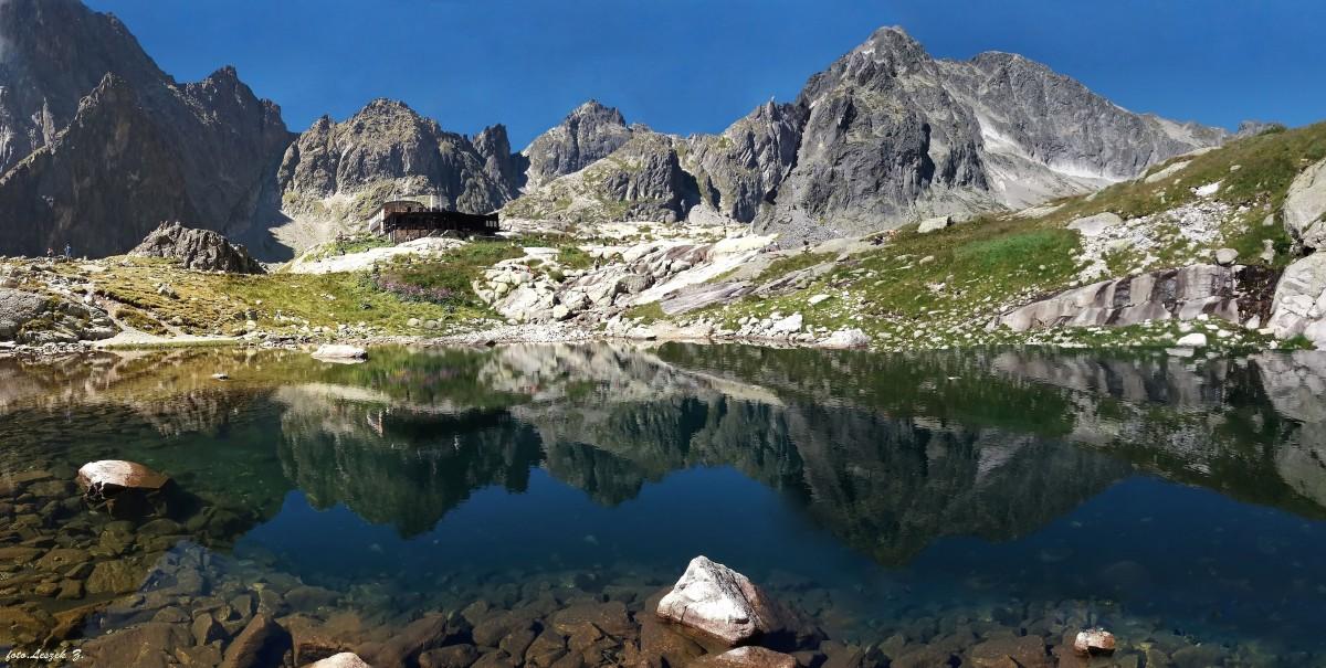Zdjęcia: Dolina Pięciu Stawów Spiskich., Wysokie Tatry., Panorama z Doliny Pięciu Stawów Spiskich., SłOWACJA