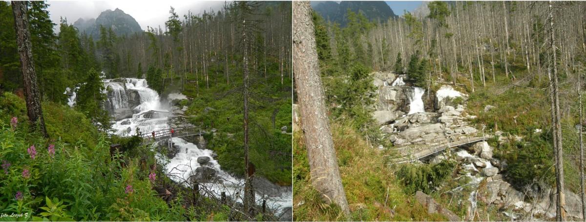 Zdjęcia: Wodospady Zimnej Wody., Wysokie Tatry., Wielki Wodospad w lipcu i we wrześniu., SłOWACJA