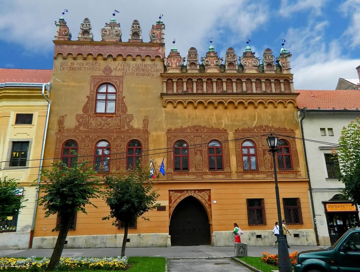 Zdjęcia: region Spisz., Kraj preszowski,, Lewocza - Renesansowy dom Thurzonów., SłOWACJA