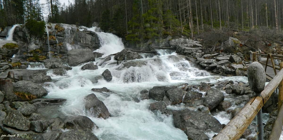 Zdjęcia: Wodospady Zimnej Wody., Wysokie Tatry., Wielki Wodospad - Zimnej Wody., SłOWACJA