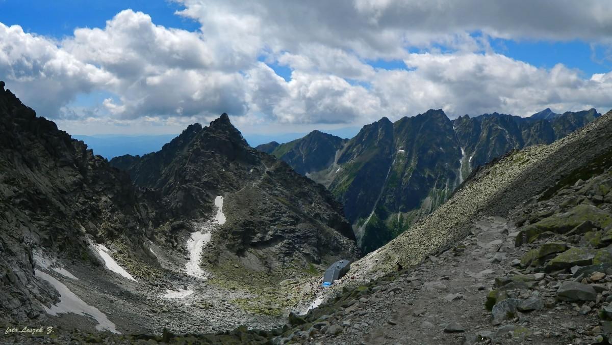 Zdjęcia: Przełęcz Waga. (Waha).2337 m., Wysokie Tatry., Widok z Przełęczy Waga.(Waha), SłOWACJA