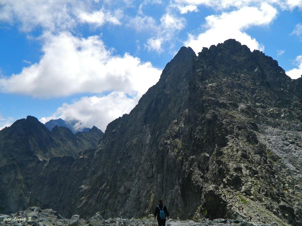 Zdjęcia: Szlak na Rysy., Wysokie Tatry., Widok z Przełęczy Waga 2337 m., SłOWACJA