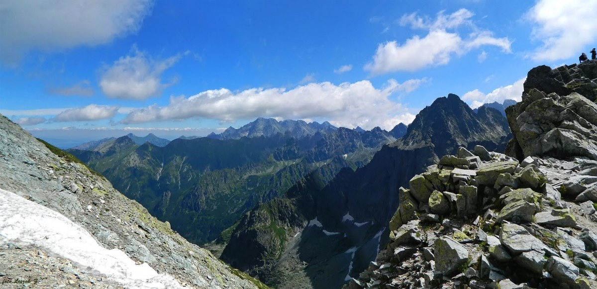 Zdjęcia: Przełęcz Waga. (Waha).2337 m., Wysokie Tatry., Widok z Wagi., SłOWACJA