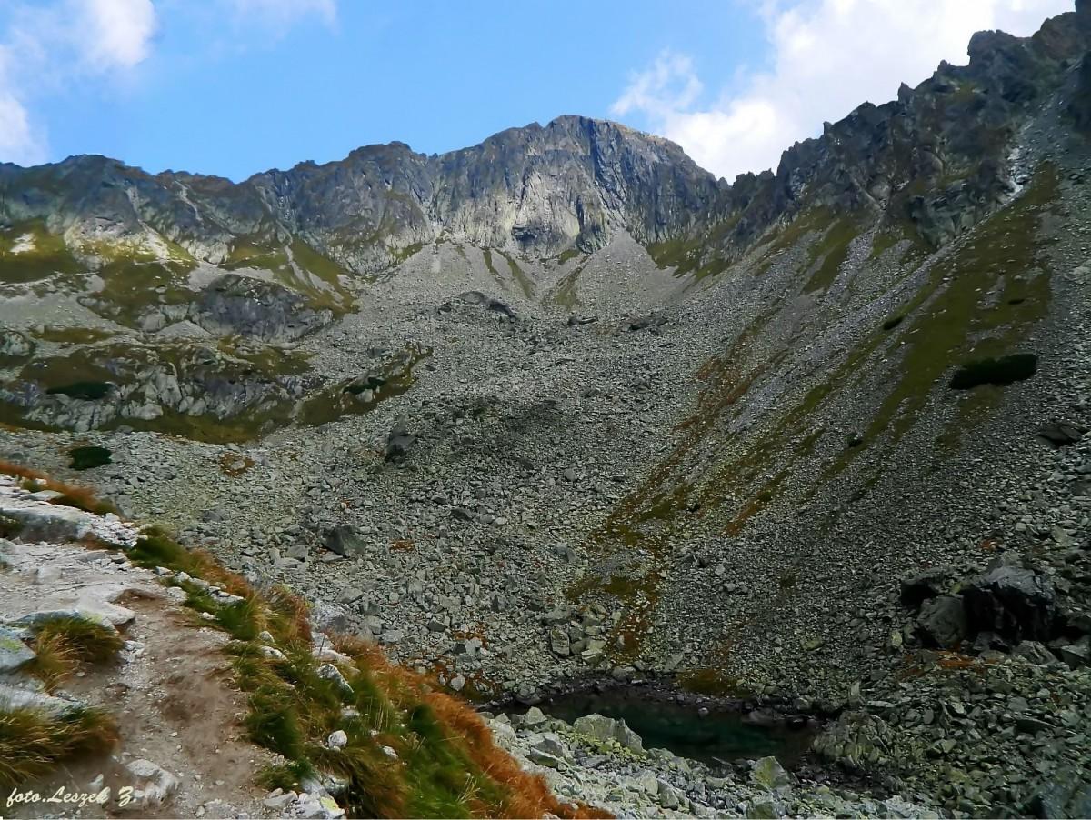 Zdjęcia: Dolina Jagnięca., Wysokie Tatry., Modry Stawek pod ścianą Koziego Grzebienia., SłOWACJA