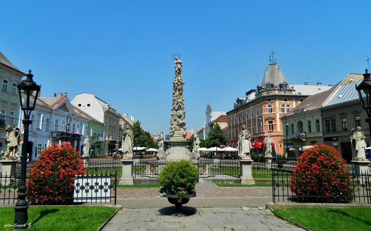 Zdjęcia: Koszyce., Kotlina Koszycka., Koszyce - Immaculata – Kolumna – Pomnik Maryi Panny., SłOWACJA