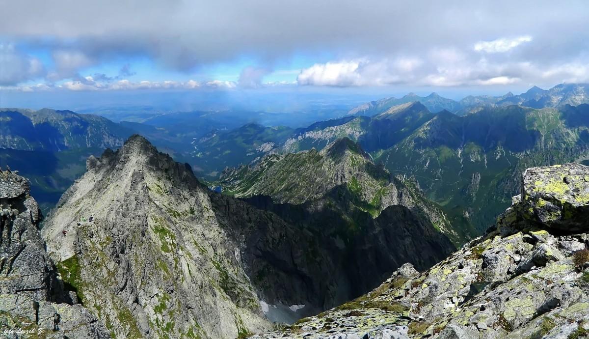 Zdjęcia: Rysy Słowackie. (2503m.), Wysokie Tatry., Widok Z Rysów., SłOWACJA